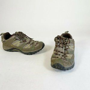 Merrell Olive Green Brindle Waterproof Lace Up Hik